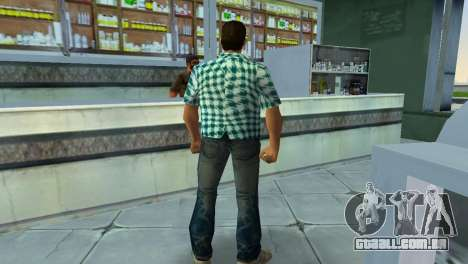 Kockas polo - vilagoskek T-Shirt para GTA Vice City por diante tela