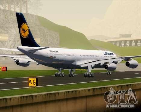 Airbus A340-313 Lufthansa para GTA San Andreas vista traseira