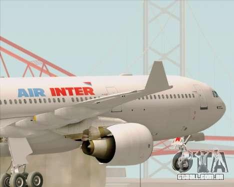 Airbus A330-300 Air Inter para GTA San Andreas interior