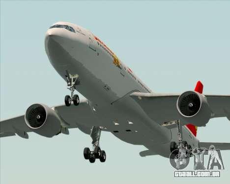 Airbus A330-200 Air China para GTA San Andreas interior