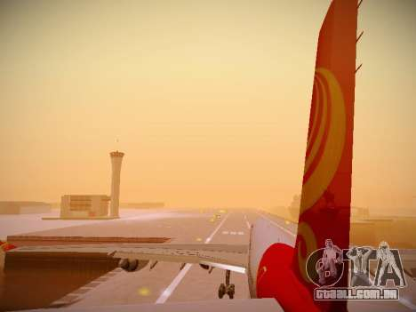 Airbus A340-600 Hainan Airlines para as rodas de GTA San Andreas