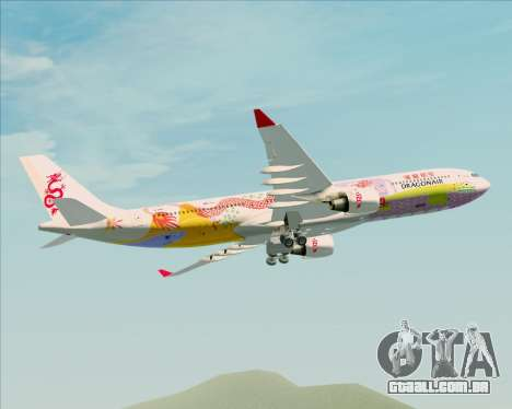 Airbus A330-300 Dragonair (20th Year Livery) para vista lateral GTA San Andreas