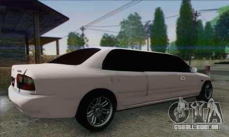 Proton Wira Official Malaysian Limousine para GTA San Andreas esquerda vista