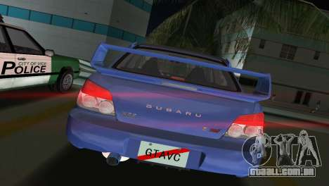 Subaru Impreza WRX STI 2006 Type 1 para GTA Vice City vista traseira esquerda