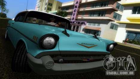 Chevrolet BelAir 1957 para GTA Vice City vista traseira