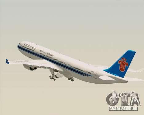 Airbus A330-300 China Southern Airlines para as rodas de GTA San Andreas