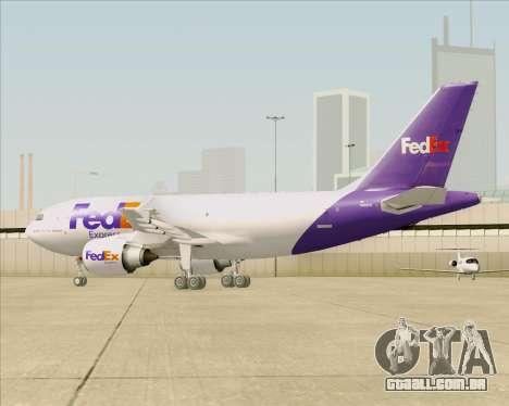 Airbus A310-300 Federal Express para GTA San Andreas vista inferior