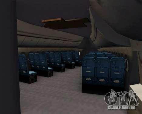 Boeing 747-8 Intercontinental United Airlines para o motor de GTA San Andreas