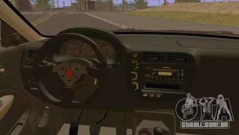 Honda Civic EM1 para GTA San Andreas traseira esquerda vista
