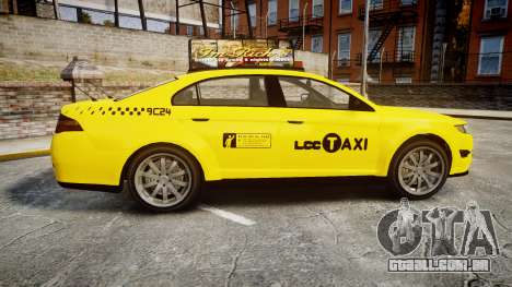 GTA V Vapid Taurus Taxi LCC para GTA 4 esquerda vista