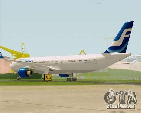 Airbus A330-300 Finnair (Old Livery) para GTA San Andreas vista direita