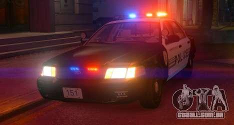 Ford Crown Victoria LCPD [ELS] No Pushbar para GTA 4 esquerda vista