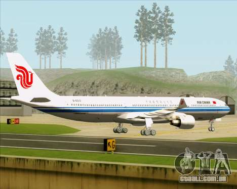 Airbus A330-300 Air China para GTA San Andreas vista traseira