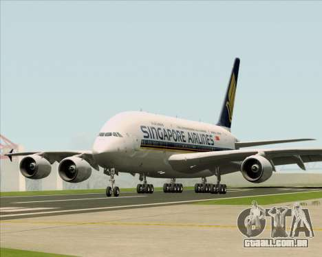 Airbus A380-841 Singapore Airlines para GTA San Andreas