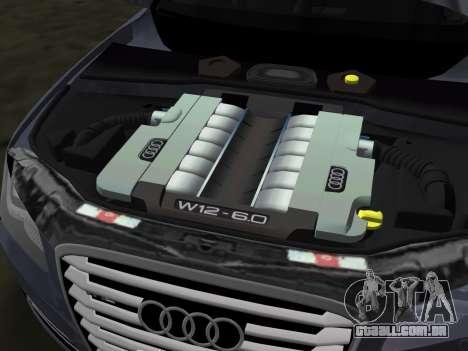 Audi A8 2010 W12 Rim3 para GTA Vice City vista inferior