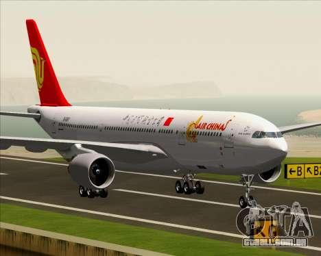 Airbus A330-200 Air China para GTA San Andreas vista inferior