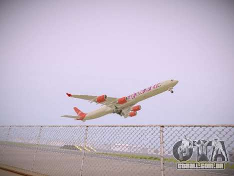Airbus A340-600 Virgin Atlantic New Livery para GTA San Andreas vista traseira