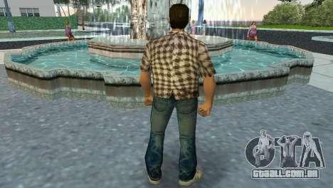 Kockas polo - koszos T-Shirt para GTA Vice City terceira tela