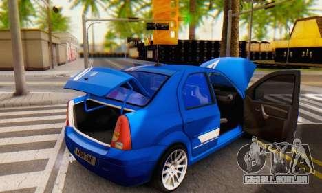 Dacia Logan Tuning Rally (B 48 CUP) para GTA San Andreas vista superior