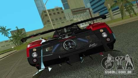 Pagani Zonda Cinque para GTA Vice City vista traseira