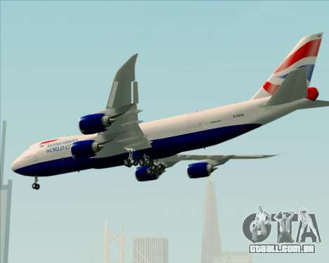 Boeing 747-8 Cargo British Airways World Cargo para as rodas de GTA San Andreas