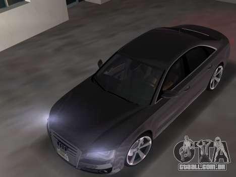 Audi A8 2010 W12 Rim3 para GTA Vice City vista direita