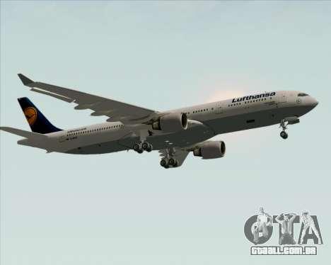 Airbus A330-300 Lufthansa para GTA San Andreas vista interior