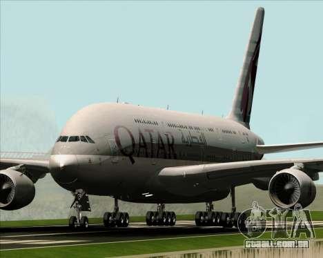 Airbus A380-861 Qatar Airways para GTA San Andreas esquerda vista