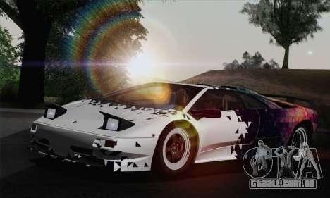 Lamborghini Diablo SV 1995 (HQLM) para as rodas de GTA San Andreas