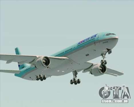 Airbus A330-300 Korean Air para vista lateral GTA San Andreas