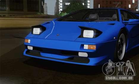 Lamborghini Diablo SV 1995 (ImVehFT) para vista lateral GTA San Andreas