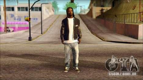 New Grove Street Family Skin v6 para GTA San Andreas