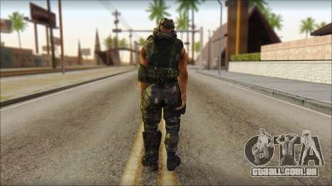 Claude Resurrection Skin from COD 5 v2 para GTA San Andreas segunda tela