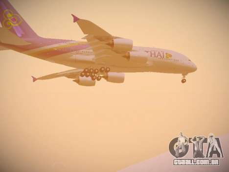Airbus A380-800 Thai Airways International para GTA San Andreas vista interior