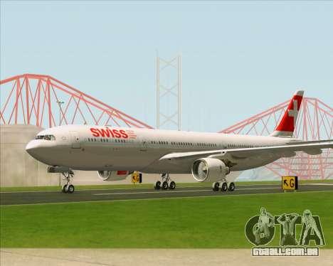 Airbus A330-300 Swiss International Air Lines para GTA San Andreas vista interior