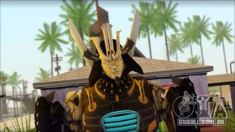 Дрифт (Transformers: Rise of the Dark Faísca) para GTA San Andreas terceira tela