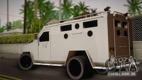 FBI Armored Vehicle v1.2 para GTA San Andreas esquerda vista
