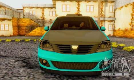 Dacia Logan Pearl Blue para GTA San Andreas esquerda vista