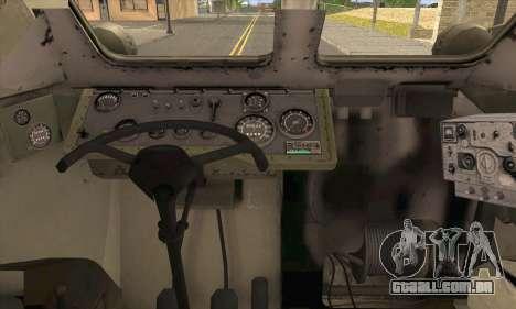 BRDM-2 from ArmA Armed Assault para GTA San Andreas traseira esquerda vista