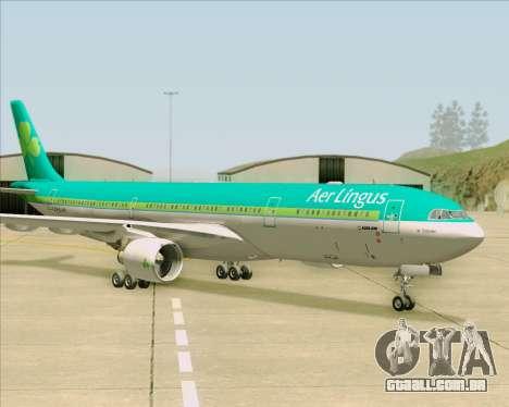 Airbus A330-300 Aer Lingus para vista lateral GTA San Andreas