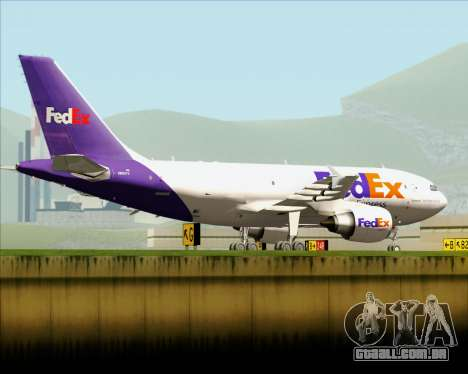 Airbus A310-300 Federal Express para vista lateral GTA San Andreas