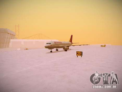Airbus A319-132 Germanwings para GTA San Andreas esquerda vista