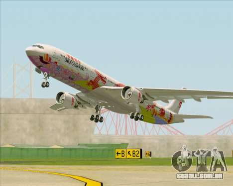 Airbus A330-300 Dragonair (20th Year Livery) para GTA San Andreas vista interior