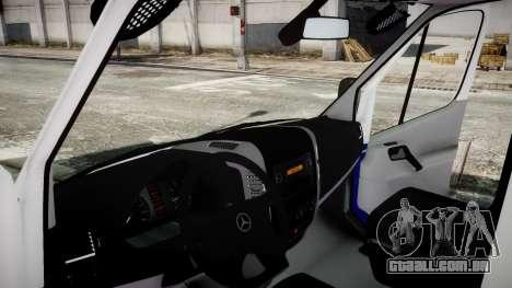 Mercedes-Benz Sprinter Police 2014 para GTA 4 traseira esquerda vista