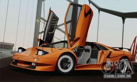 Lamborghini Diablo SV 1995 (HQLM) para GTA San Andreas traseira esquerda vista