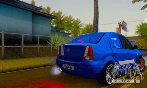 Dacia Logan Tuning Rally (B 48 CUP) para GTA San Andreas esquerda vista