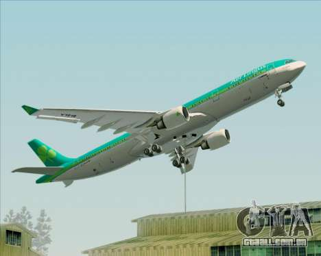 Airbus A330-300 Aer Lingus para as rodas de GTA San Andreas