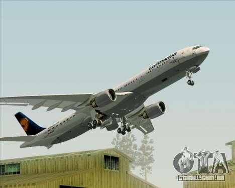 Airbus A330-300 Lufthansa para as rodas de GTA San Andreas