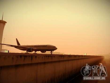 Boeing 777-212ER Transaero Airlines para GTA San Andreas vista interior