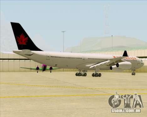 Airbus A340-313 Air Canada para GTA San Andreas vista direita